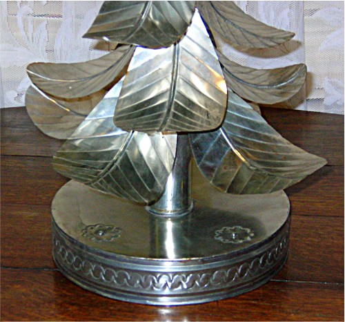 Vintage retro hand formed tin quot christmas tree candle