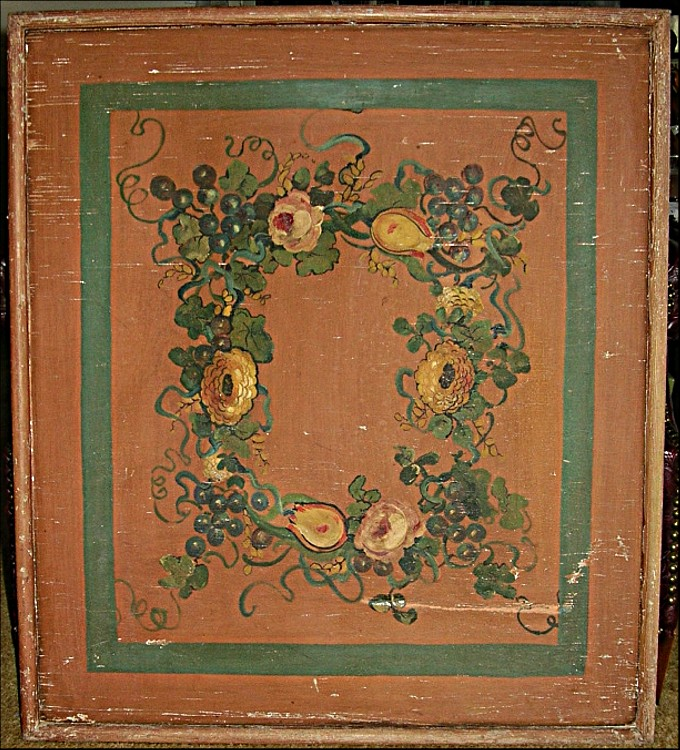 early american victorian painted wood fireplace screen ebay