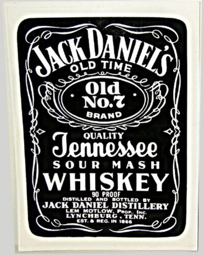 vintage jack daniels whiskey no 7 sticker 8 x 7 ebay. Black Bedroom Furniture Sets. Home Design Ideas