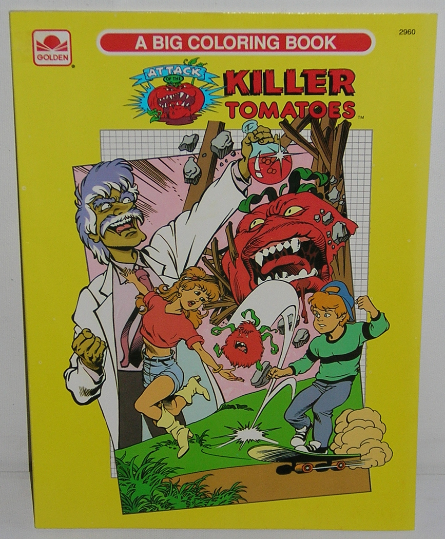 ATTACK OF THE KILLER TOMATOES Vintage COLORING BOOK 1991